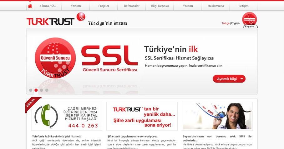 TürkTrust web sitesi tamamladık