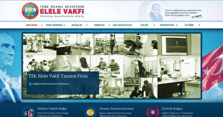 Elele Vakfı Web Sitesi Tasarımı