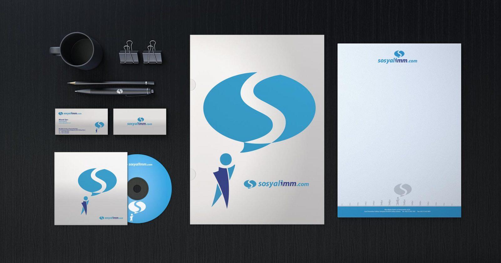 Sosyalimm Logo ve Kurumsal Kimlik Tasarımı