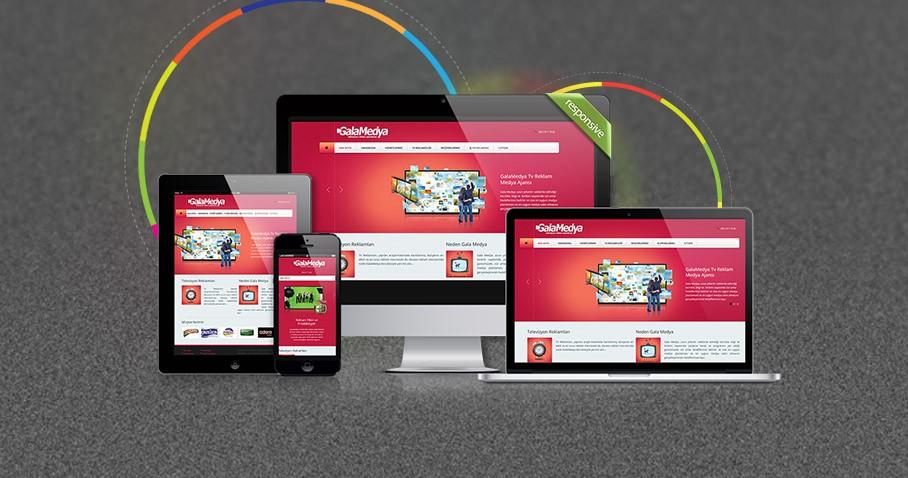 GalaMedya Ajansı Responsive Web Sitesi