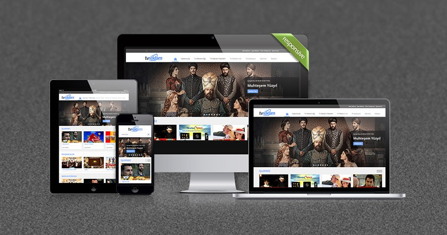 TV Reklam Medya Ajansı Web Sitesini Responsive Olarak Tamamladık