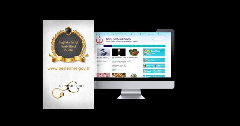 Altın Steteskop Sağlıkta En İyi Web Sitesi Ödülü www.beslenme.gov.tr