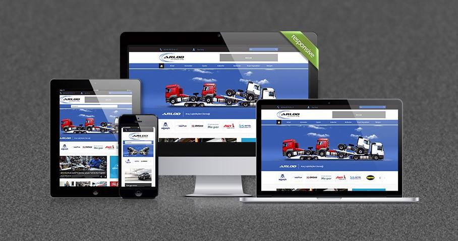Arlod Responsive Web Sitesi