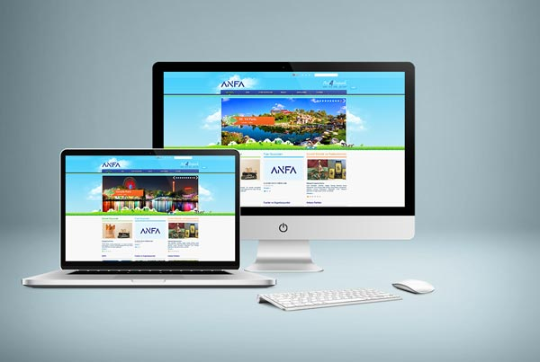 ANFA Altınpark İşletmeleri Web Sitesi Tasarımı