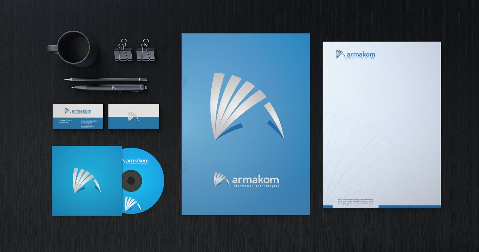 Armakom logo kurumsal kimlik tasarımı 03