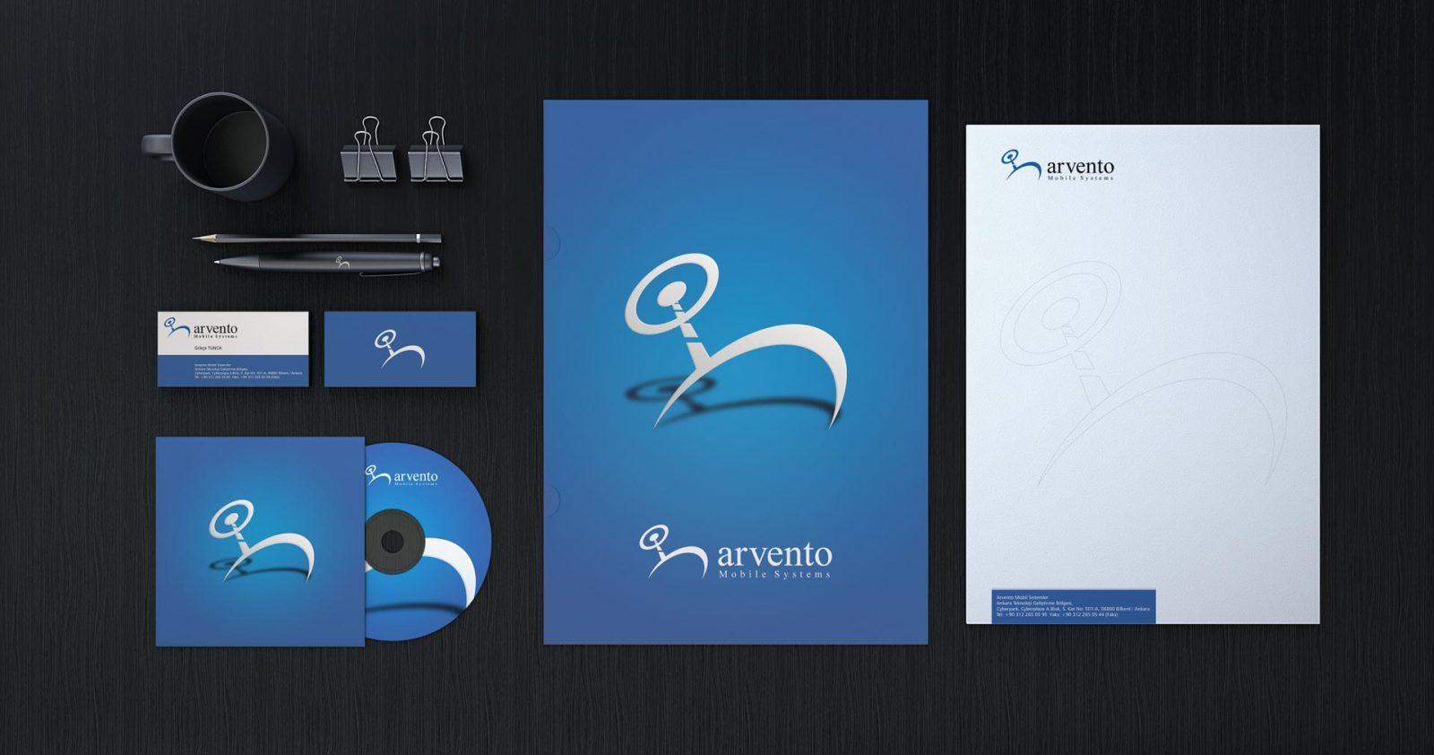 Arvento logo kurumsal kimlik tasarımı 03