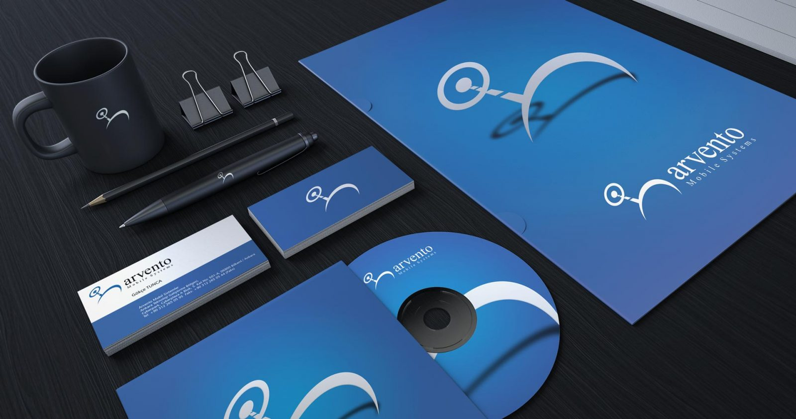Arvento logo kurumsal kimlik tasarımı 04