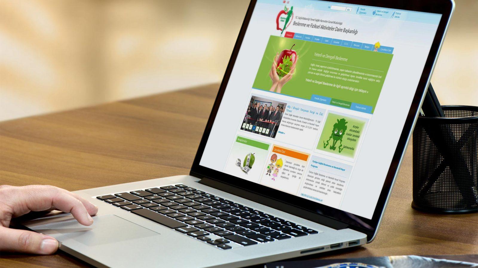 beslenme web sitesi tasarımı 01