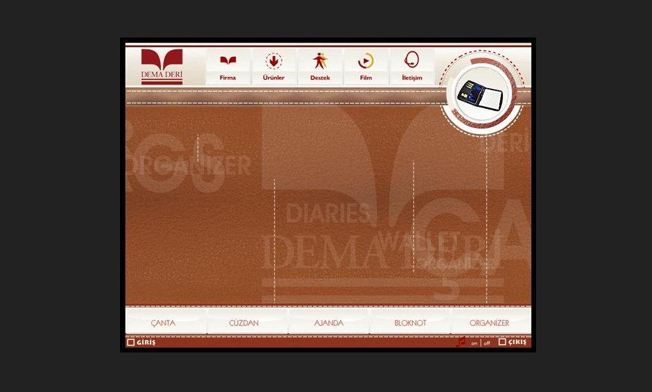 Dema Deri Ürün ve Tanıtım CD Tasarımı 1