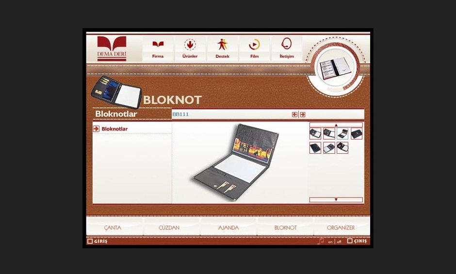 Dema Deri Ürün ve Tanıtım CD Tasarımı 2