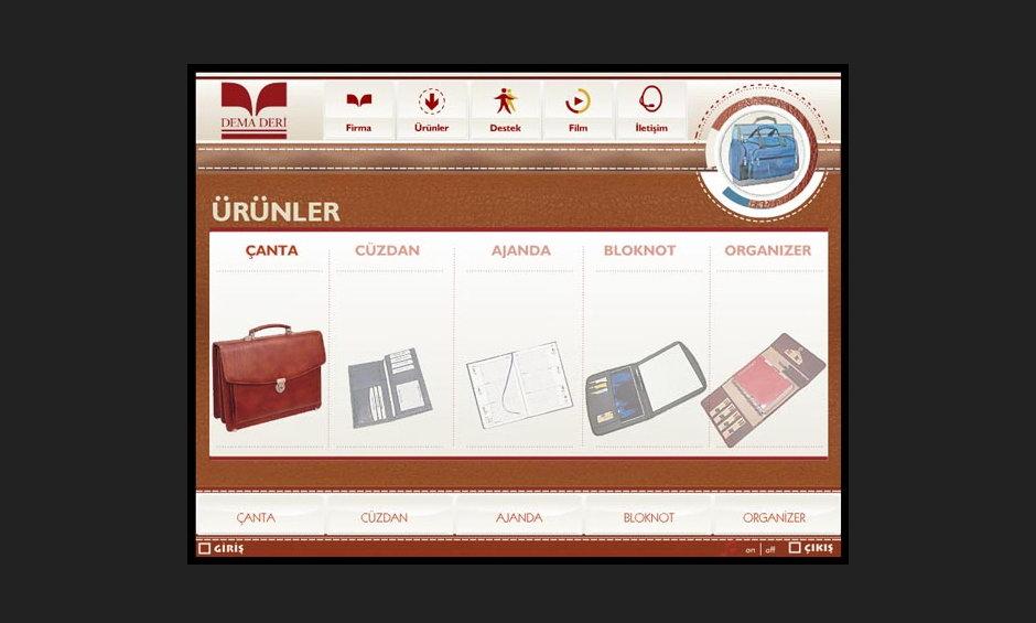 Dema Deri Ürün ve Tanıtım CD Tasarımı 3