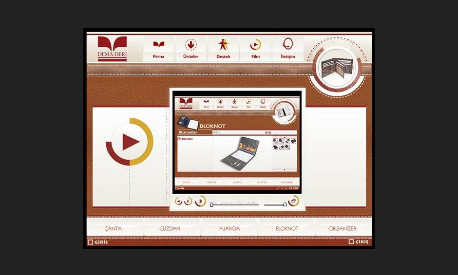 Dema Deri Ürün ve Tanıtım CD Tasarımı 5