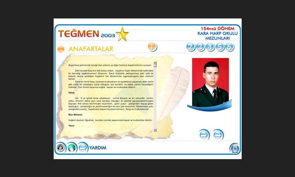 Teğmen 2003 Ürün ve Tanıtım CD Tasarımı 7