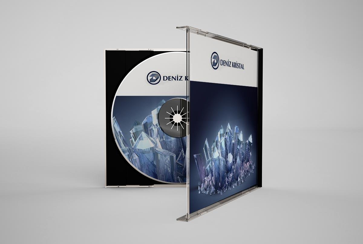 deniz kristal sirket tanitim cd tasarımı