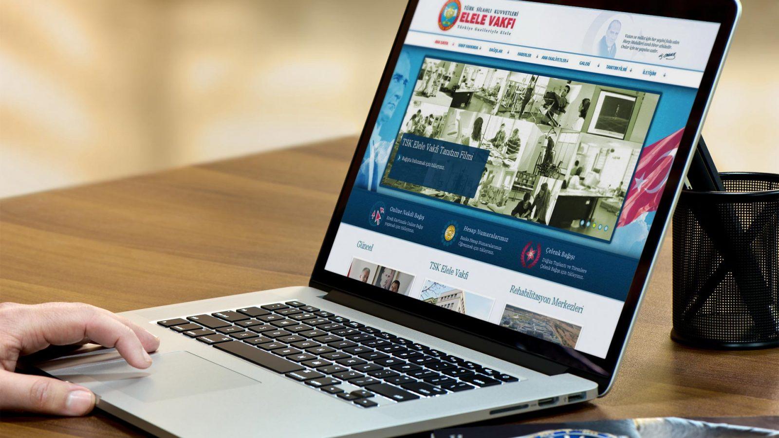 elele vakfı web sitesi tasarımı 01