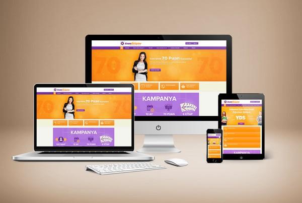Exam Navigator Responsive Web Sitesi Tasarımı