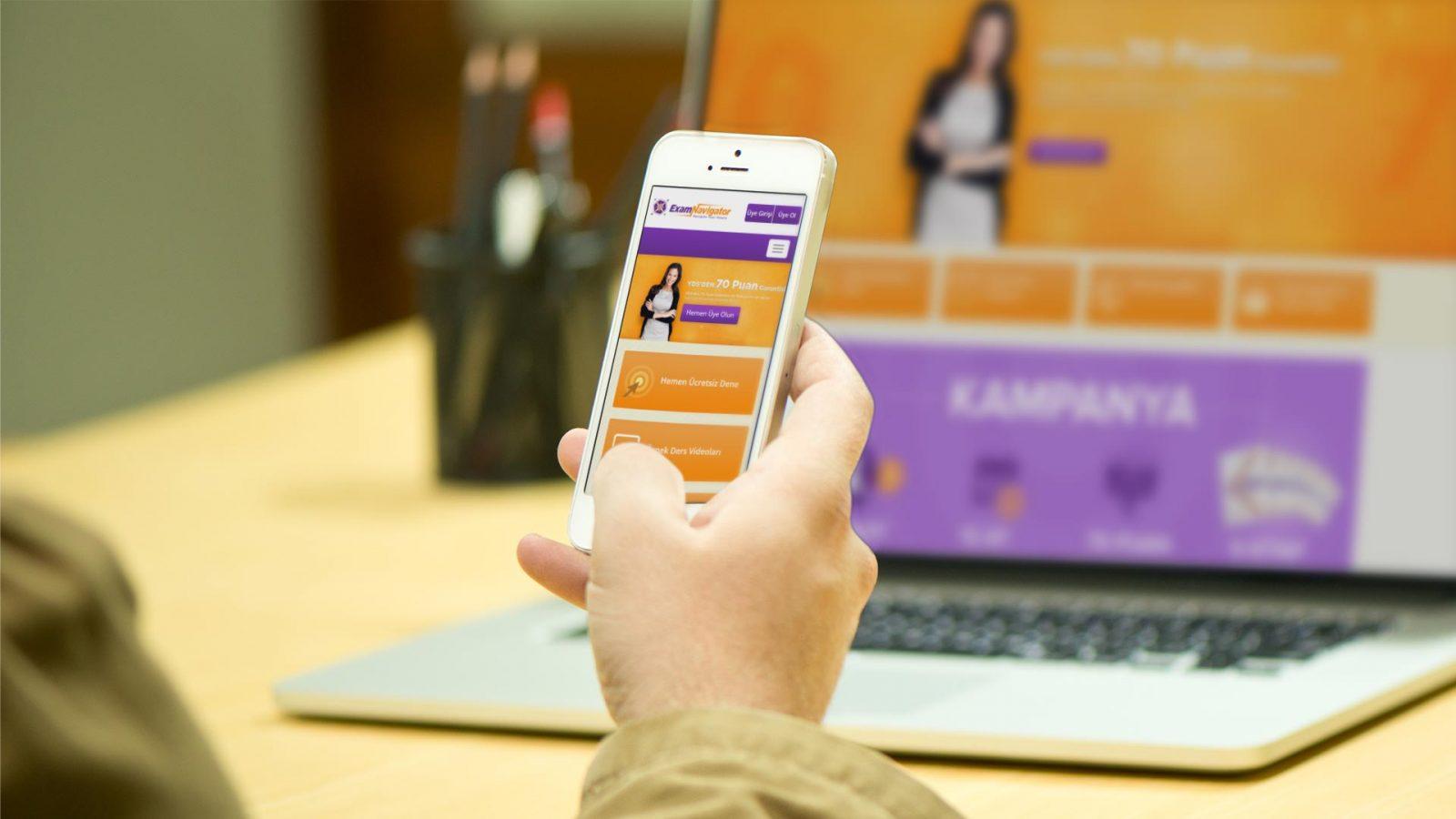 examnavigator responsive web sitesi tasarimi