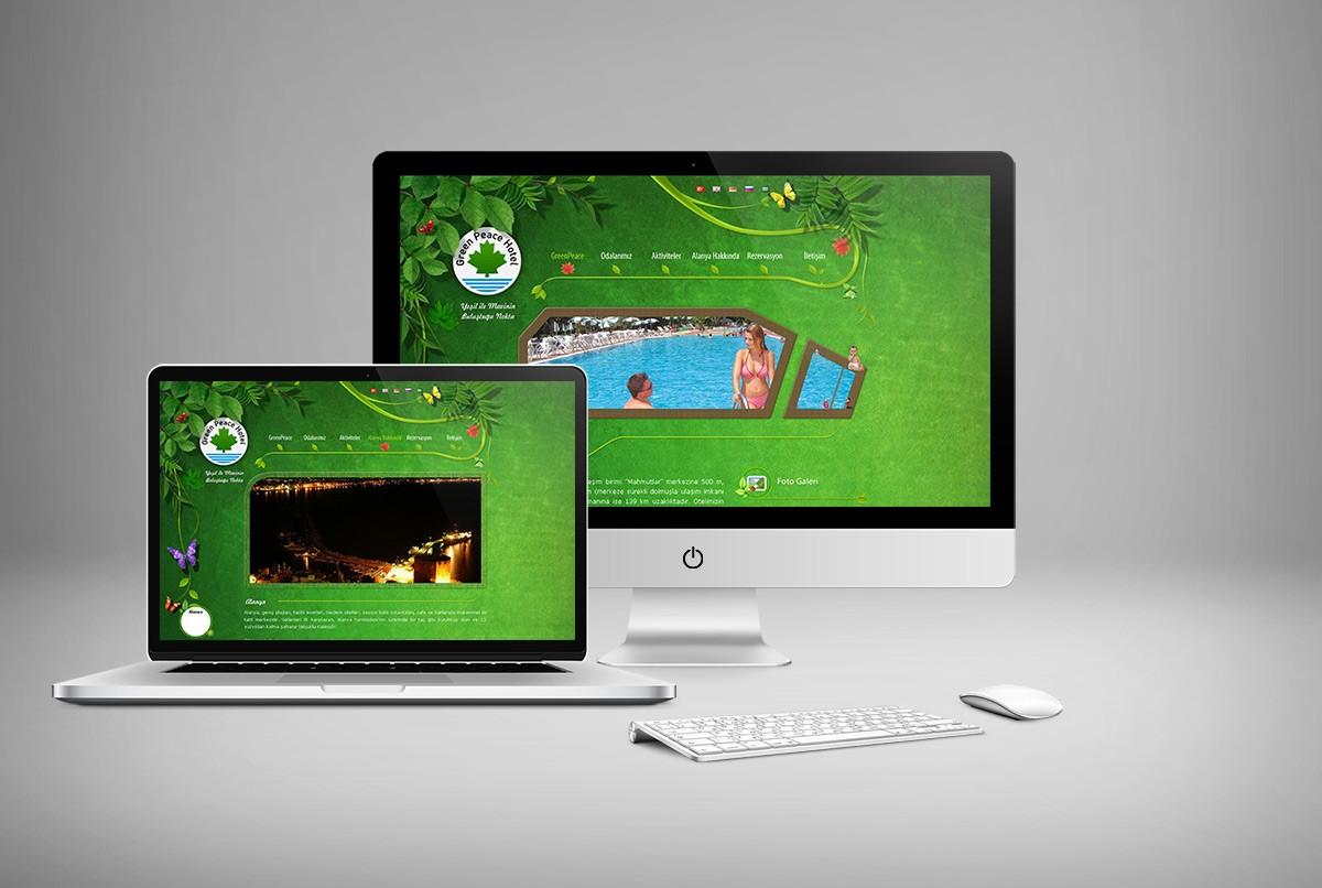 Greenpeace Hotel Web Sitesi Tasarımı
