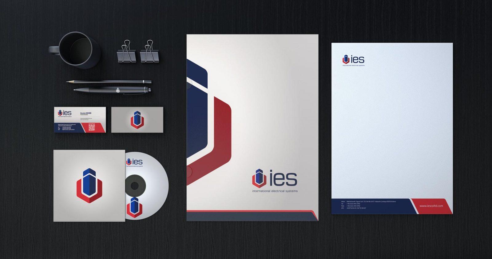 ies logo kurumsal kimlik tasarımı 03