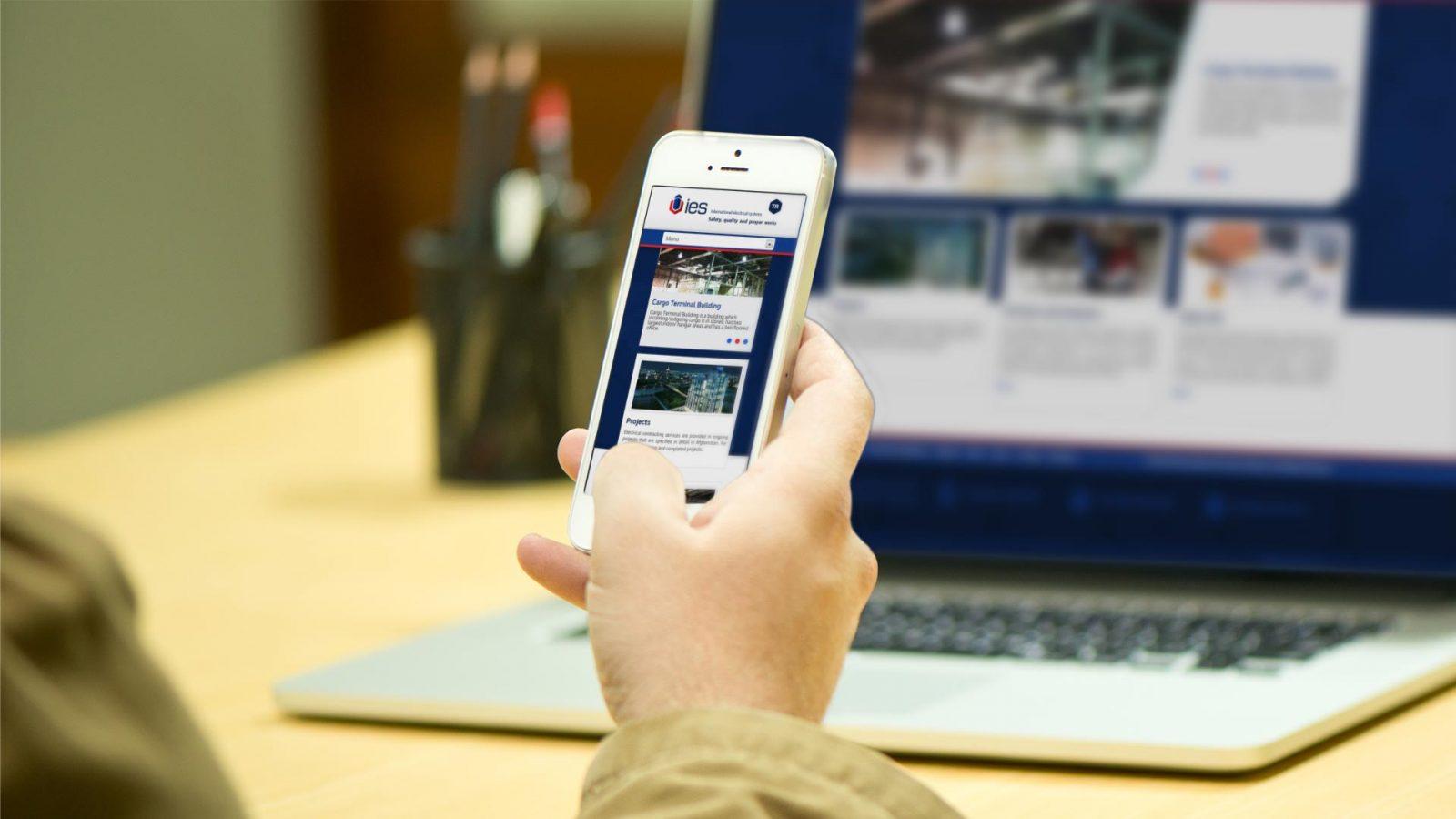 ies responsive web sitesi tasarımı 01