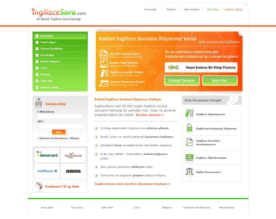 ingilizce soru web sitesi tasarımı 04