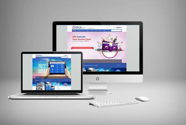 Oska Yazılım Web Sitesi Tasarımı