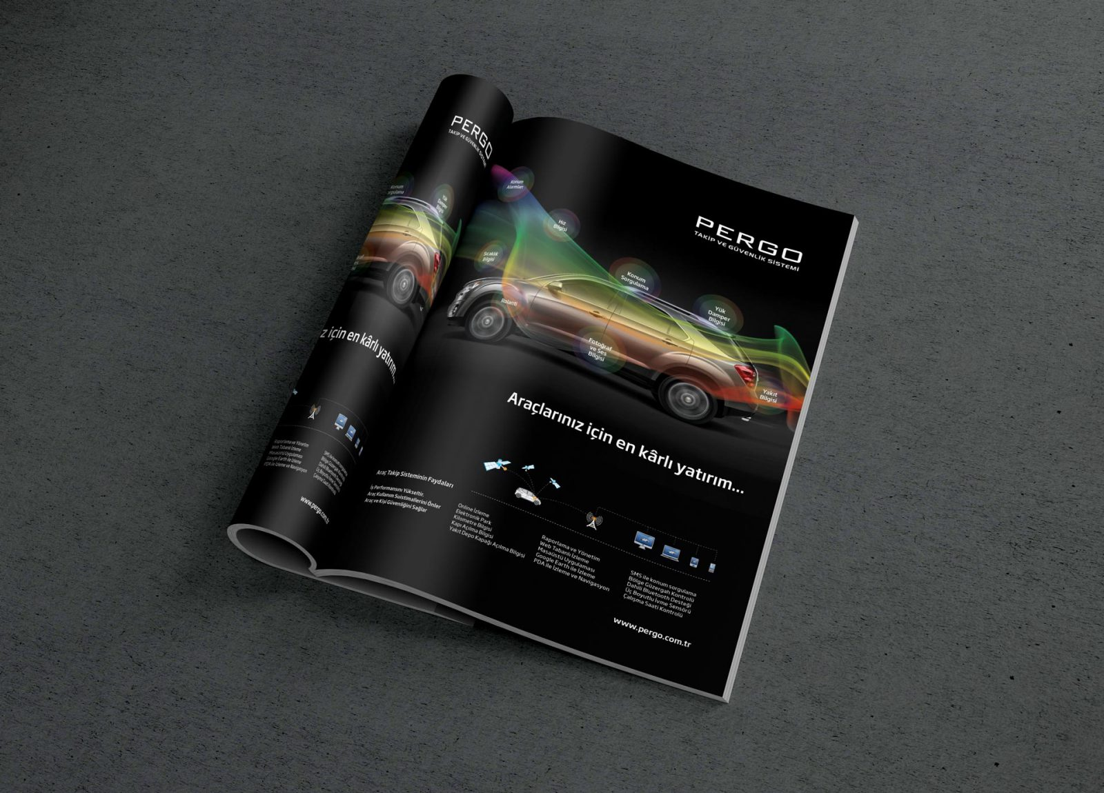 pergo dergi reklam sayfası tasarımı