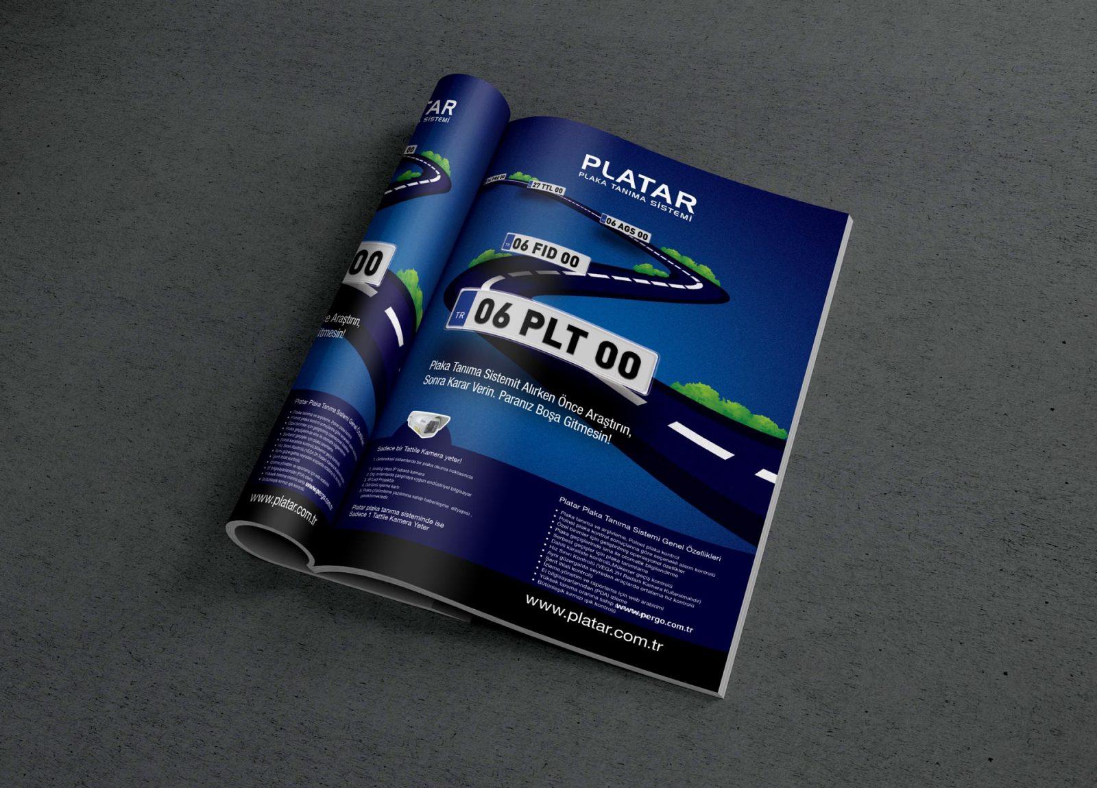 platar dergi reklam sayfası tasarımı