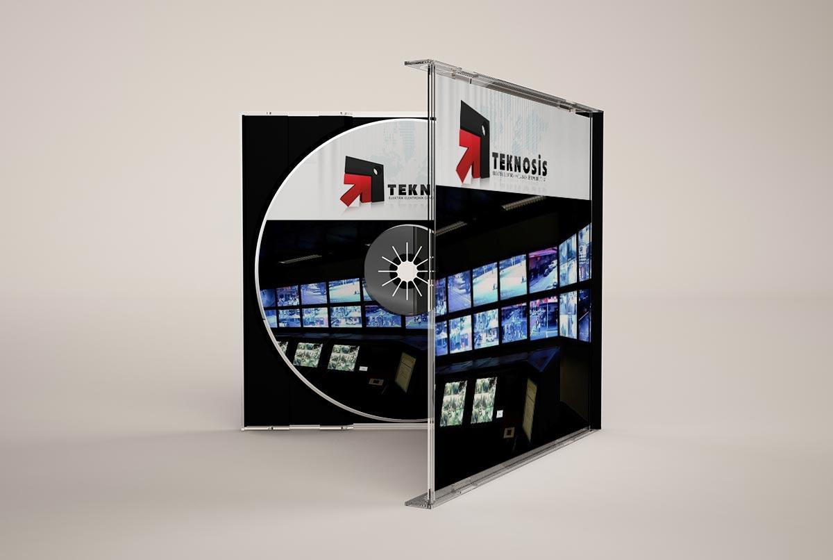 teknosis sirket tanitim cd tasarımıteknosis sirket tanitim cd tasarımı