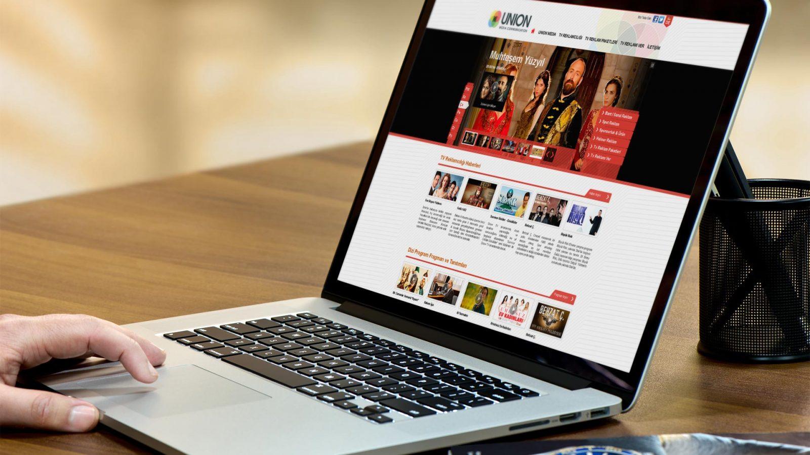 union media web sitesi tasarımı 01