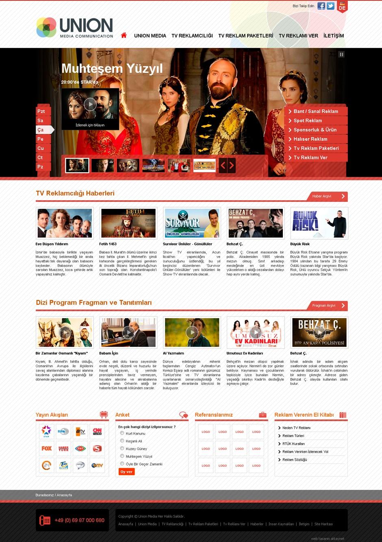 union media web sitesi tasarımı 04