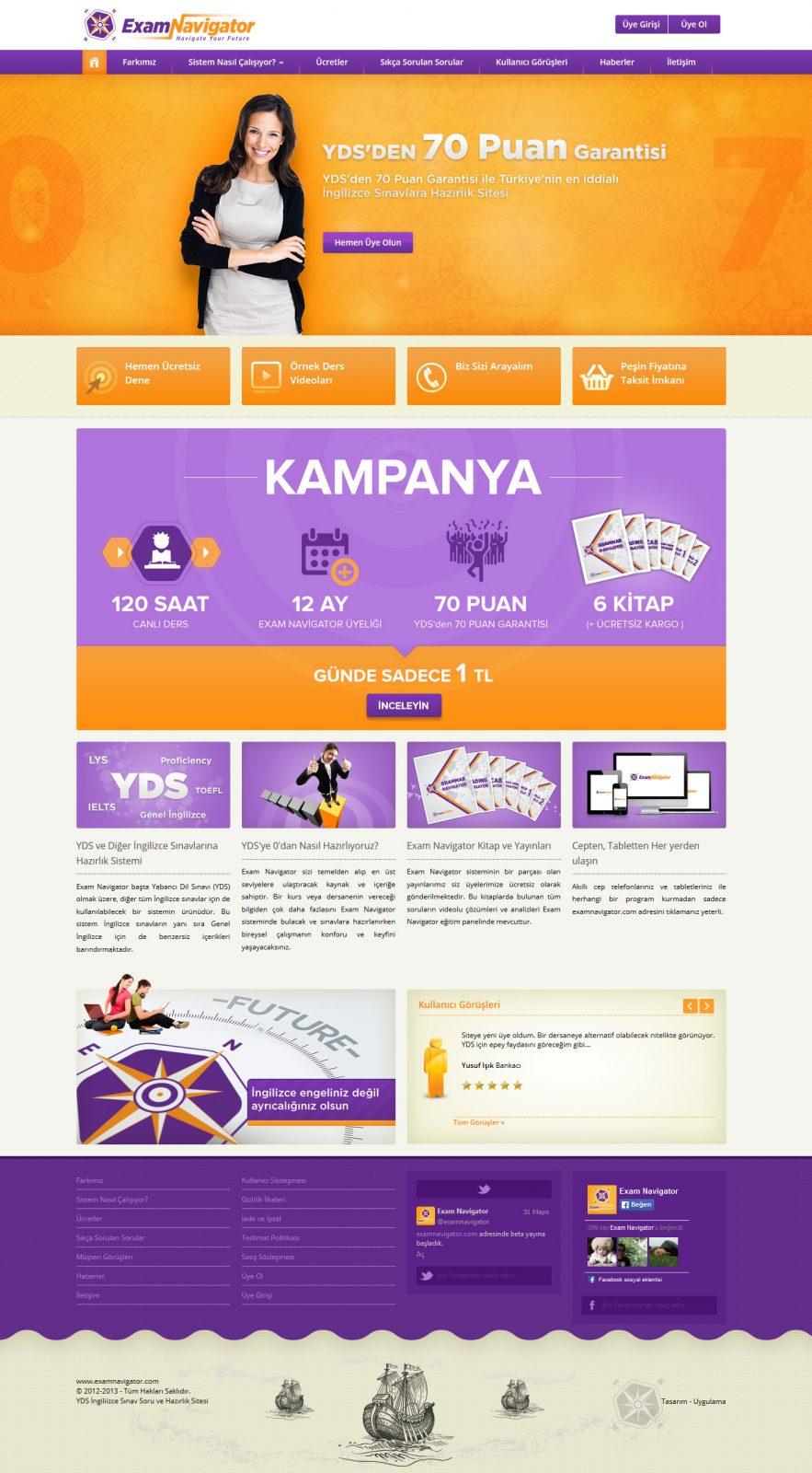 Exam Navigator Responsive Web Tasarımı