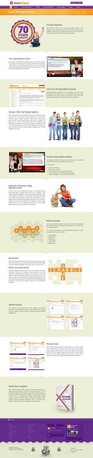 Exam Navigator Responsive Web Tasarımı 2