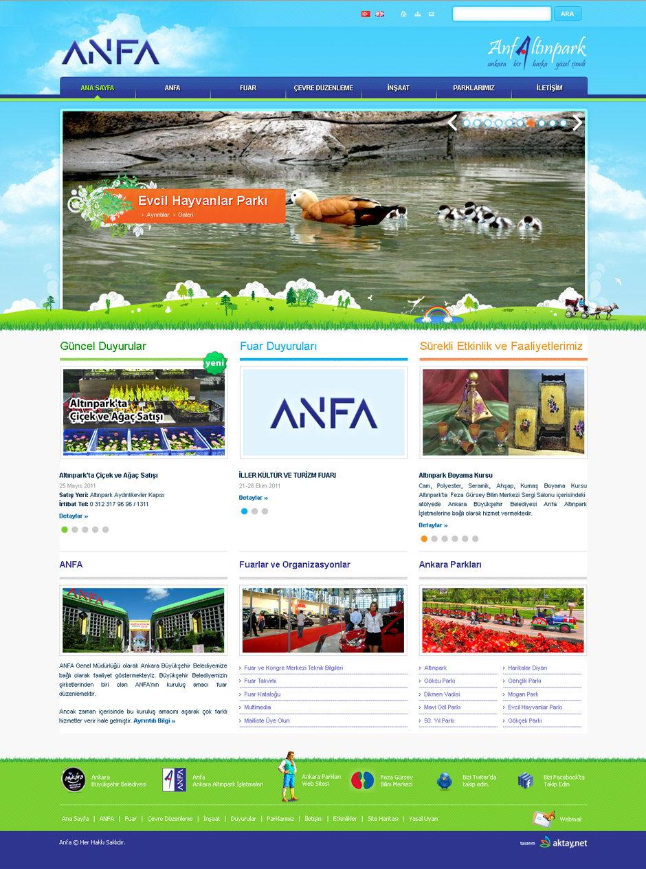 ANFA Altınpark İşletmeleri Web Sitesi Tasarımı 1