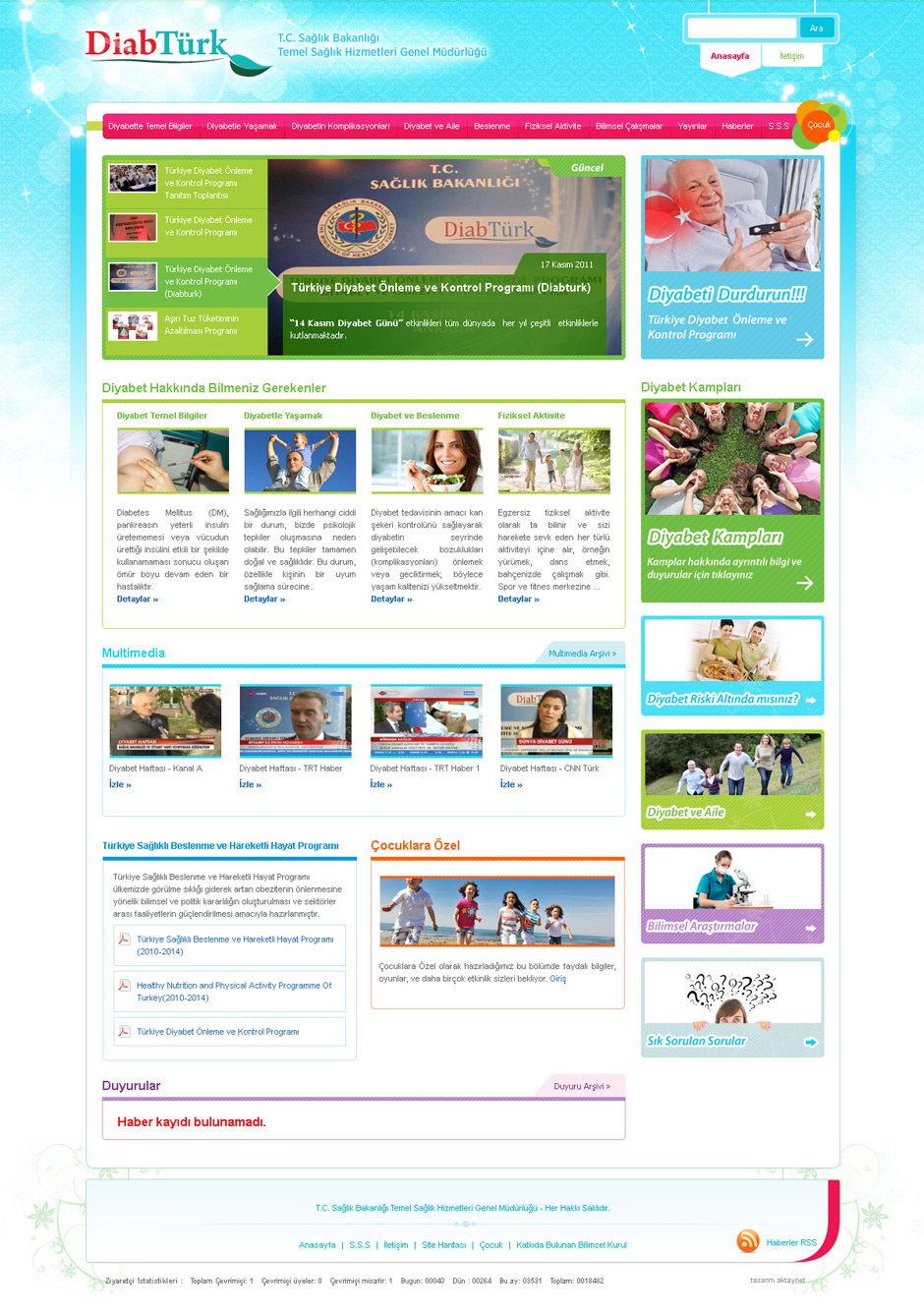 DiabTürk Web Sitesi Tasarımı 1