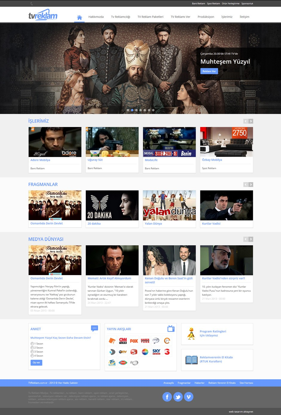 TV Reklam Responsive Web Sitesi Tasarımı 5