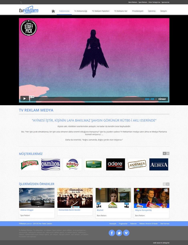 TV Reklam Responsive Web Sitesi Tasarımı 2