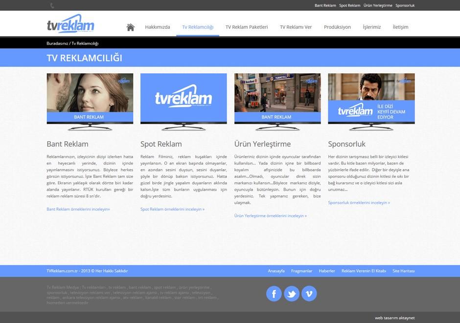TV Reklam Responsive Web Sitesi Tasarımı 3