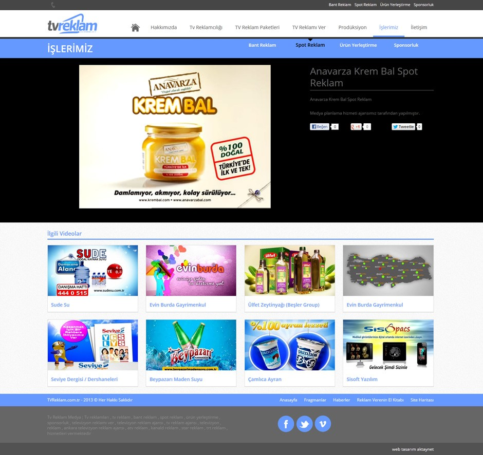 TV Reklam Responsive Web Sitesi Tasarımı 8