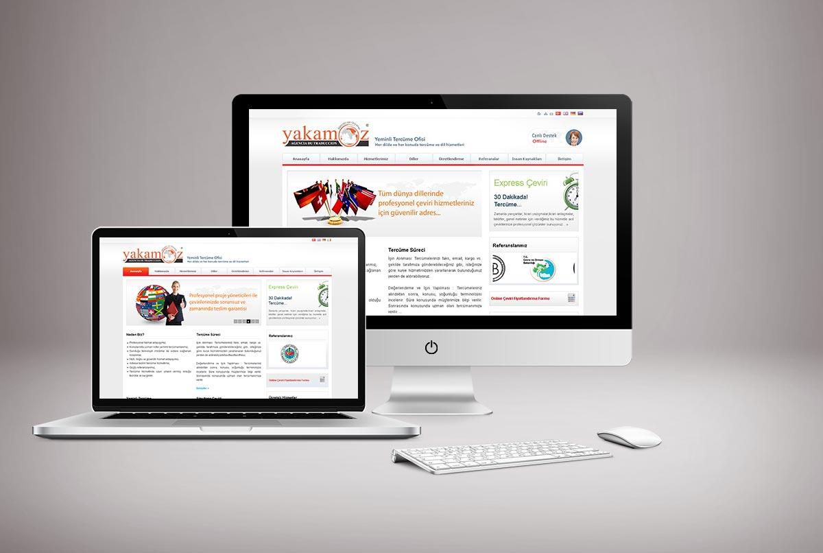 Yakamoz Tercüme Web Sitesi Tasarımı