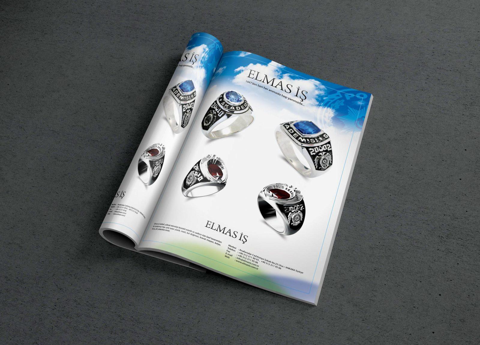 elmasis dergi reklam sayfası tasarımı 1