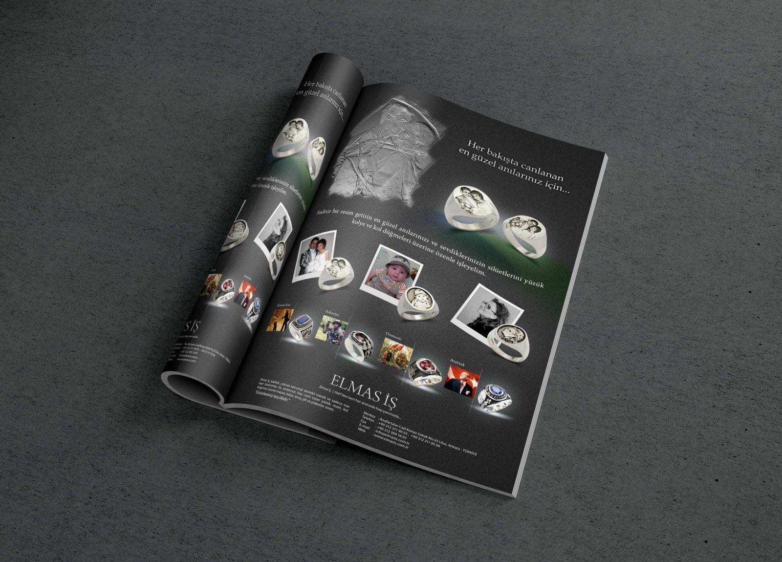elmasis dergi reklam sayfası tasarımı 2