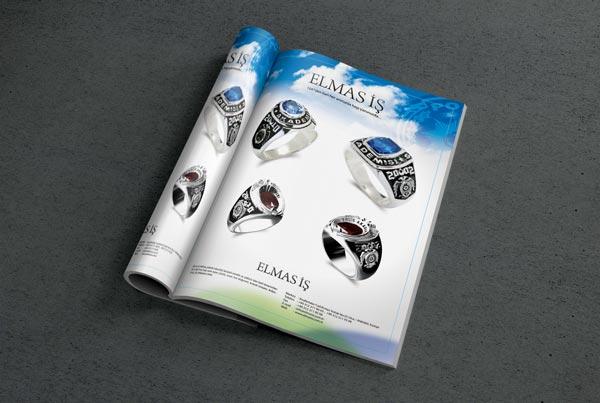 Elmas İş Dergi Reklam Sayfası Tasarımı
