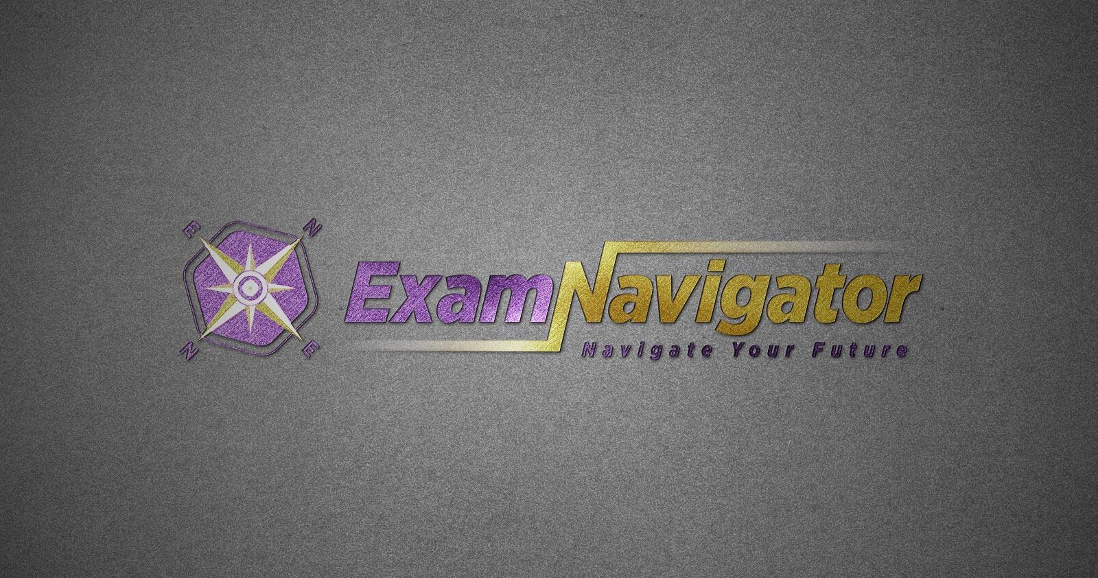 exam navigator logo tasarımı 02