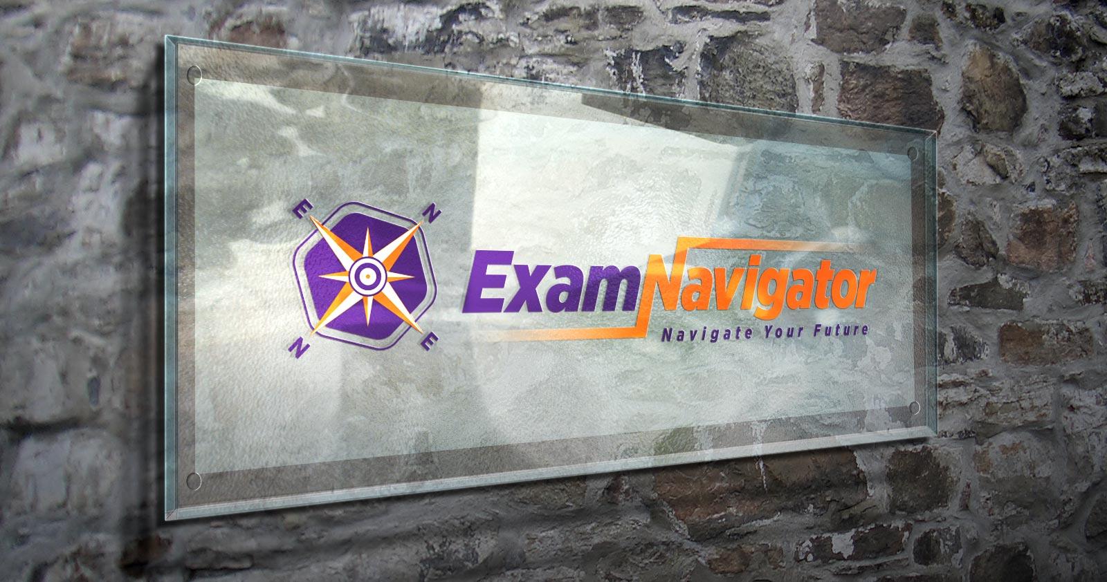 exam navigator logo tasarımı 03