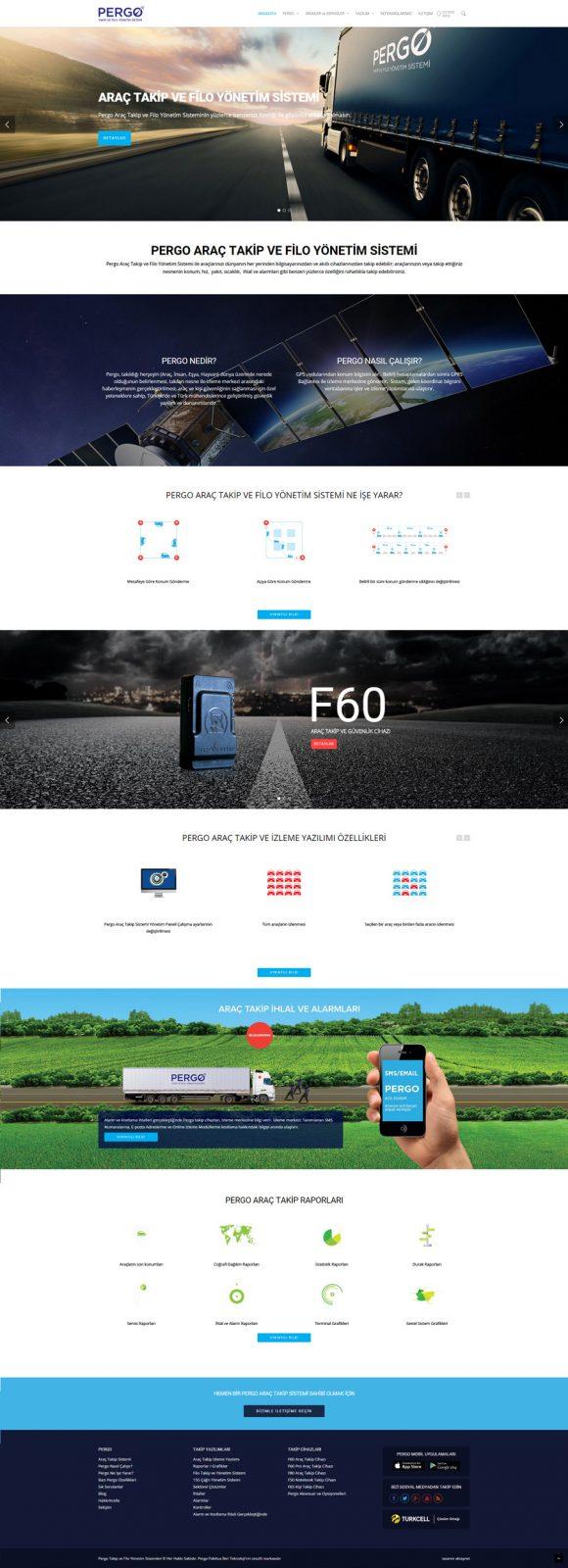 pergo web sitesi arayuz tasarımı
