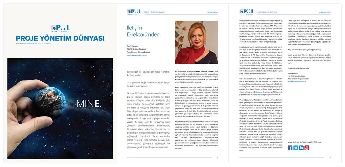 PMI TR e-Dergi Tasarımı