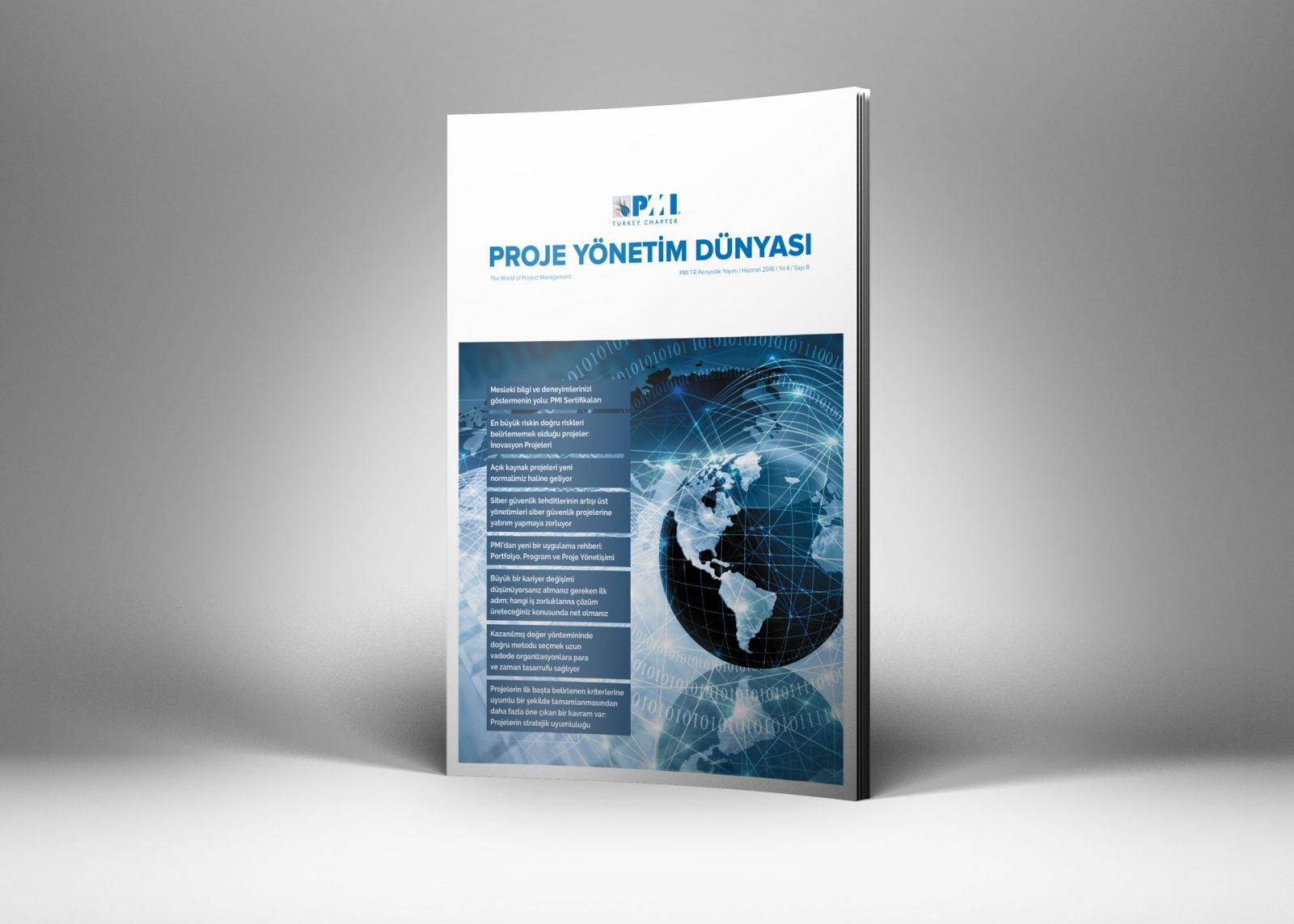 PMI TR Dergi Tasarımı 8. Sayısı Tasarımı
